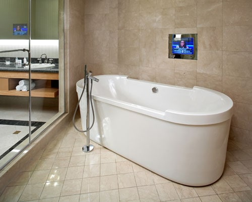 Hidden Television Technology for the Bathroom